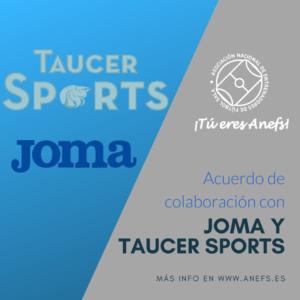 Colaboración con Joma y Taucer Sports