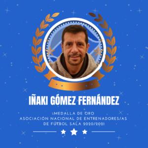 Iñaki Gómez, premiado con la Medalla de Oro de la ANEFS