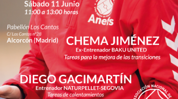 Jornada Formativa en Alcorcón el 11 de Junio con Chema Jiménez y Diego Gacimartín