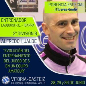 Alfredo Hualde ponente en el XXI Congreso ANEFS en Vitoria-Gasteiz