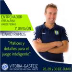 David Ramos nuevos ponente en el XXI Congreso ANEFS en Vitoria-Gasteiz